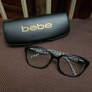 BEBE Frames w/ Black + Gray Animal Print Detail